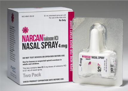 Picture of Narcan nasal spray.