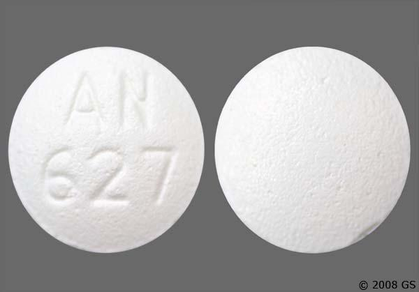 "Tramadol tablet with the markings ""AN 627"""