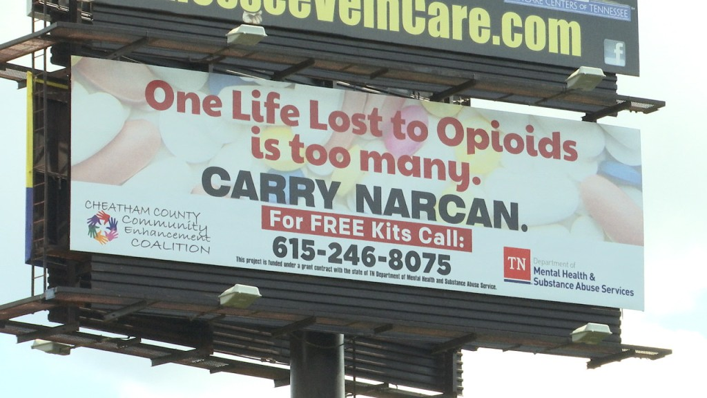 Billboard from the Tennessee Department of Mental Health & Substance